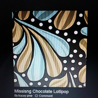 "Missing Chocolate Lollipop print. I'm looking for a 5"" charm. #annamariahorner"