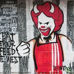Amsterdam Street Art - Ronald McDonald Devil