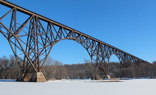 Arcola High Bridge in winter