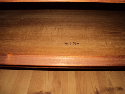 marks on chairs  They were all purchased at the same time in Augsberg   Germany between 1961 63  according to the previous owner. need help identifying marks on teak furniture