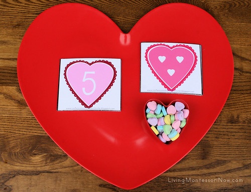 Conversation Hearts Counting Tray