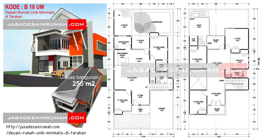 Desain Rumah Unik Minimalis Tarakan Jasa Serupa Keren Bentuk Atap
