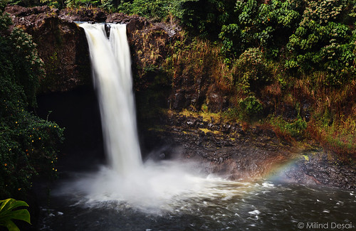 hawaii rainbow waterfalls bigisland hilo rainbowfalls