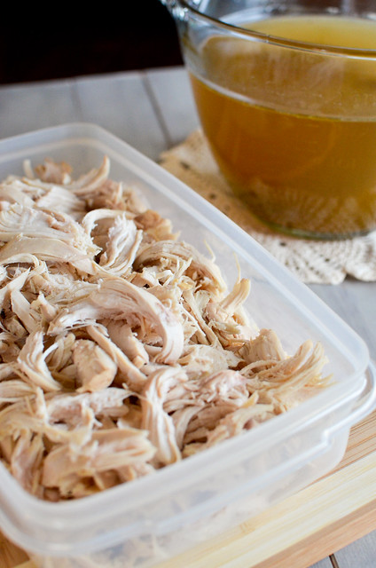 Boiled Shredded Chicken and Homemade Chicken Broth 5