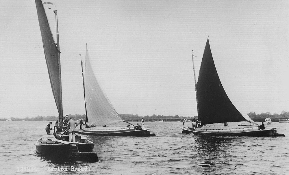 Barton Broad wherry race c1930s