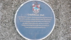 Photo of Oddfellows Hall, Ulverston blue plaque