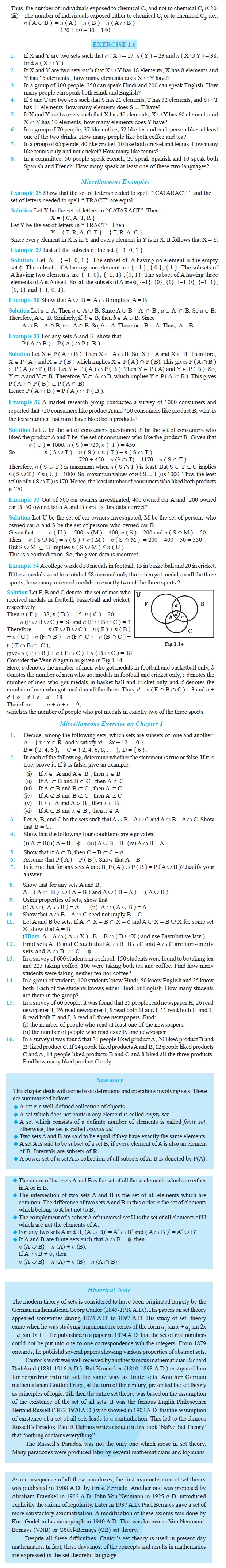 NCERT Class XI Mathematics Chapter 1 – Sets