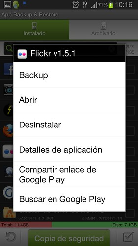 flickr en tablet