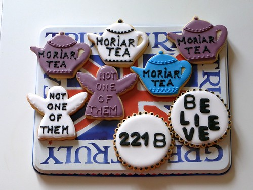 Sherlock iced biscuits