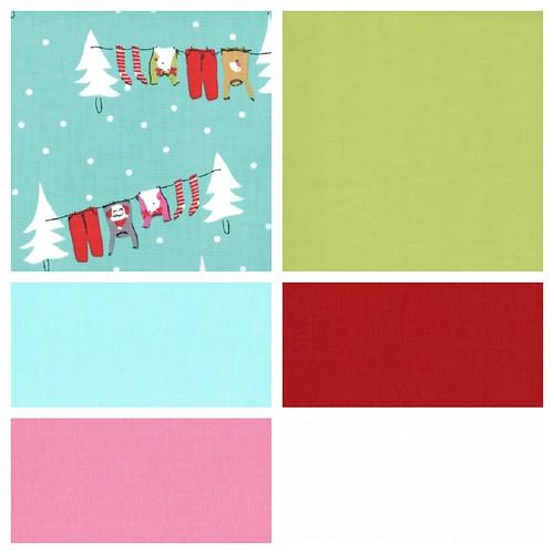 choosing Christmas fabrics