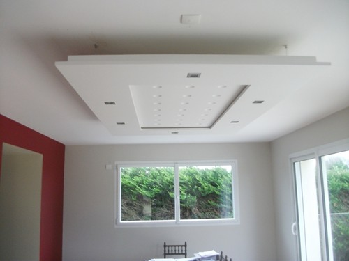 Plafond d co staff jean jacques meudec peinture d coration staff finist re plouescat - Decoration des plafonds en platre ...