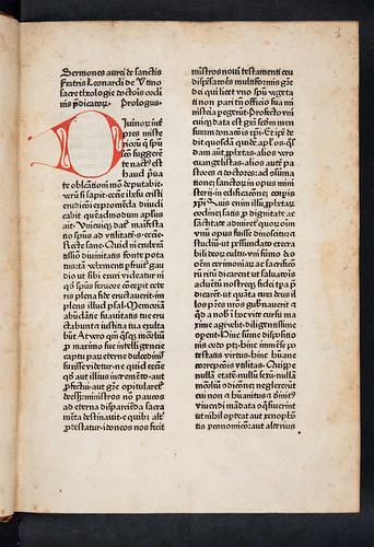 Title incipit of Leonardus de Utino: Sermones de sanctis