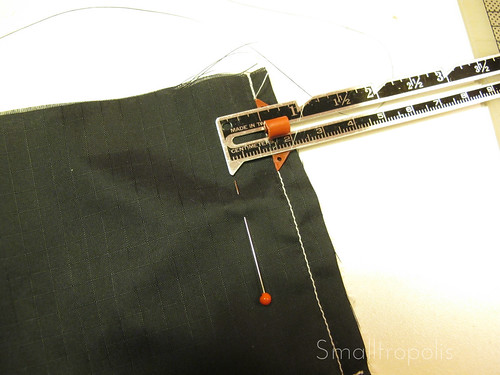 Sew 1 inch from edge