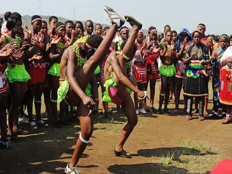 President Jacob Zuma attends Reed Dance festival, 10 Sept 2011