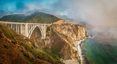 Bixby Bridge in Fog - Big Sur, CA