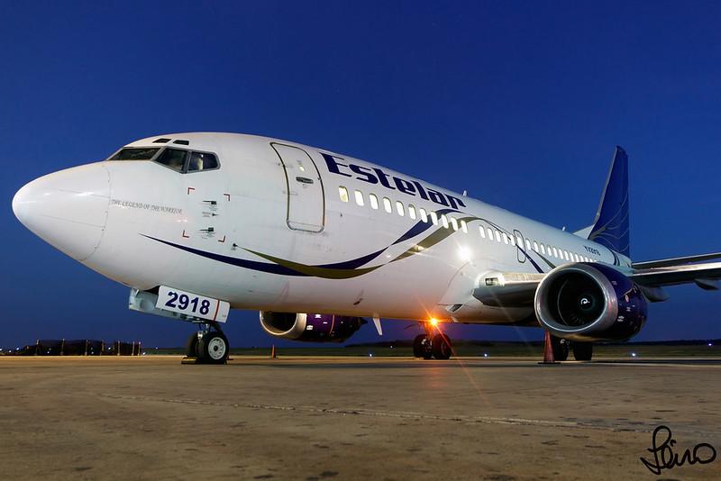Estelar - Boeing 737-329 - YV2918 (MSN 23773 LN 1441) - PMV - 2016.01.22