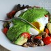 Poached Eggs with Vegetable Medley and Arugula Pesto