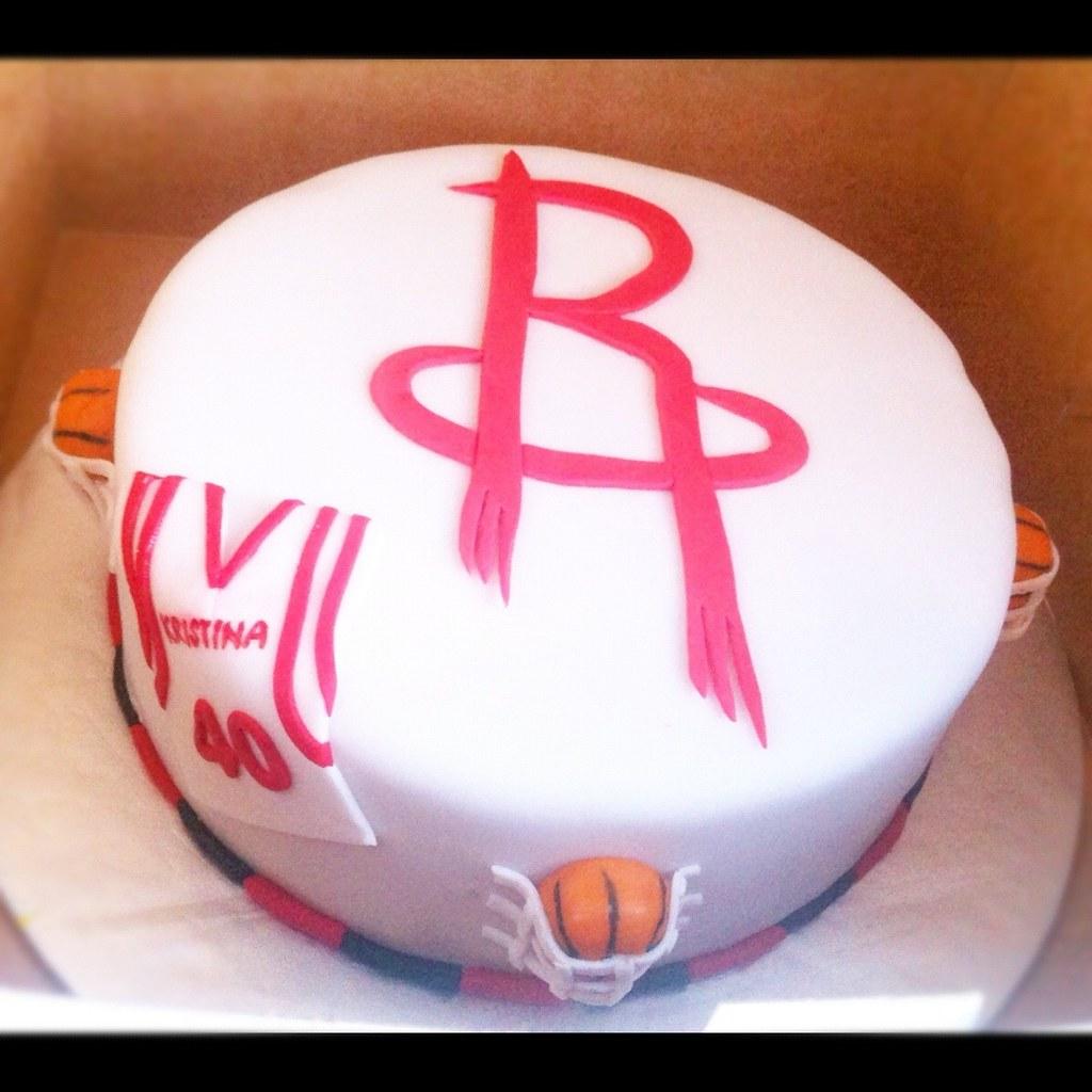 By LizzyCakes671 Houston Rockets Cake