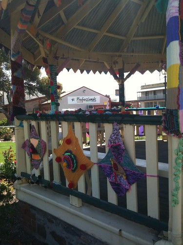 Yarn bombing at Rotunda