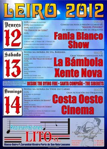 Rianxo 2012 - Festas patronais de Leiro - cartel