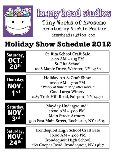 Holiday Craft Show Schedule 2012