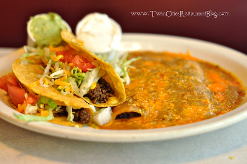 Crispy Beef Tacos and Two Beef Enchiladas at El Bravo ~ St Paul, MN