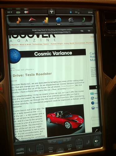 Tesla Series S - In-car browser