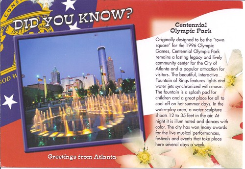 Did You Know? Centennial Olympic Park Atlanta Georgia