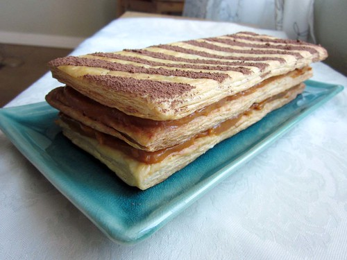 Butterscotch pumpkin mille-feuille (napoleon)