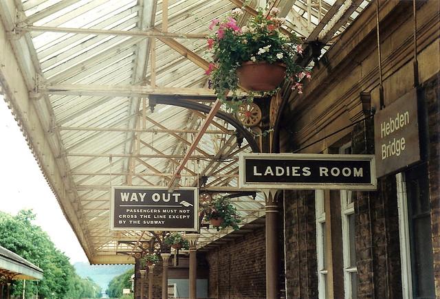 Old Signage At Hebden Bridge Railway Station Uk Flickr