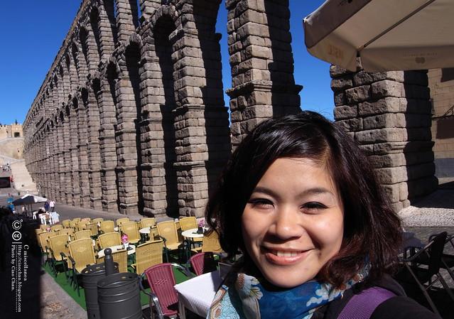 Hola Segovia~ 賽哥維亞。第一次看到建築奇蹟「羅馬水道橋」 R1044011