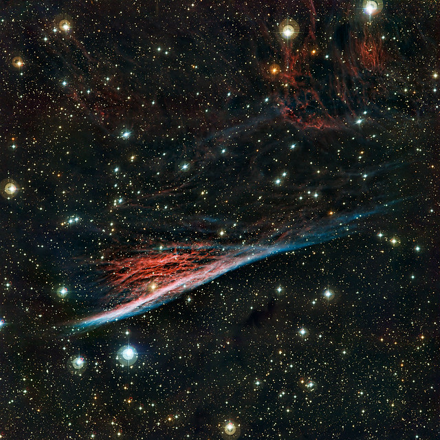 The Pencil Nebula, a strangely shaped leftover from a vast ...