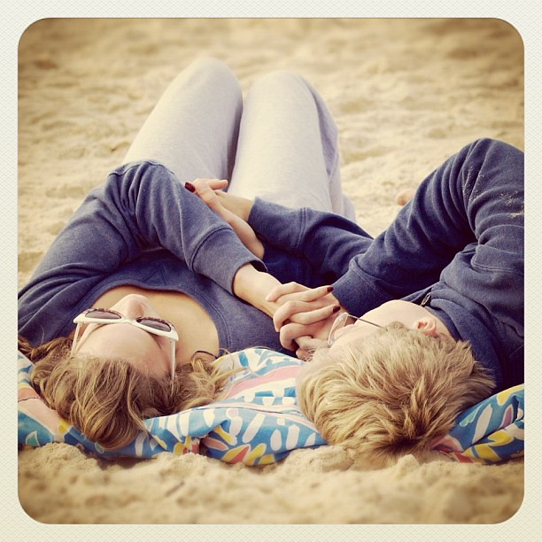 Bondi beach love... #atbondi  #beach #bondi #couple #love #sydney #sand