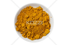 top view of turmeric powder