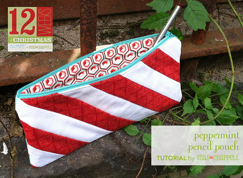 Peppermint Pencil Pouch
