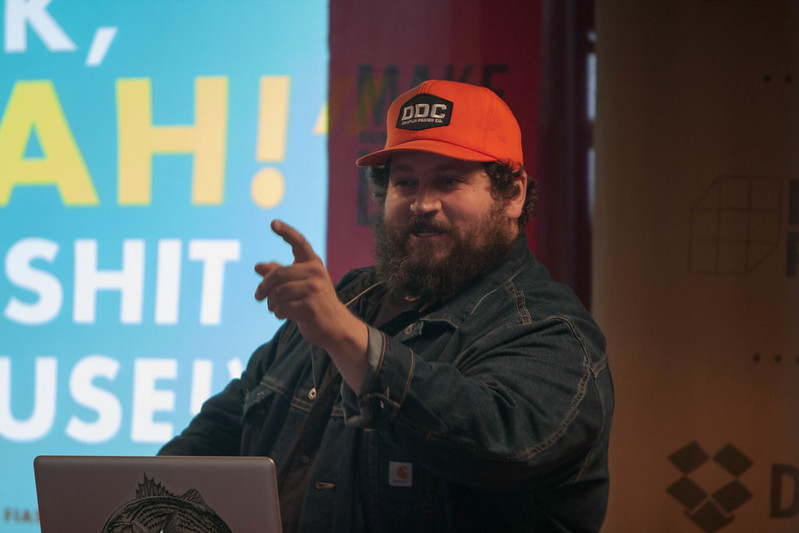 "Aaron James Draplin. ""Work hard. Do good work. For good people."""