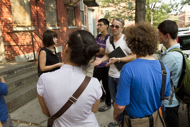 William Powhida leads a walk through the remains of the Williamsburg scene