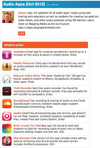 Best iPhone Apps: Audio Apps (Oct 2012) by wfryer | Appolicious ™ iPhone and iPad App Directory