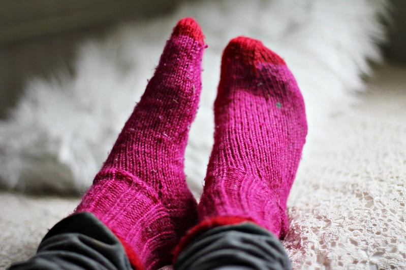 sukat jotka on nyt jalassa