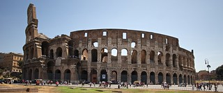 The Colosseum from the Forum area
