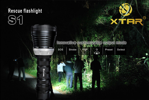 XTAR S1, Power LED Flashlight, XTAR LED Flashlight