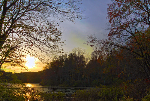 sunset pordosol lake fall nature colors cores lago connecticut natureza newengland outono