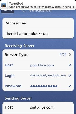 Sprrow新增Outlook信箱