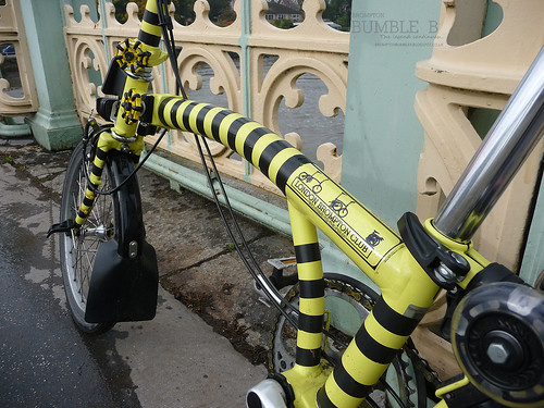 Brompton Bumble B on a Bridge