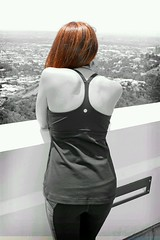 Taking in the view of LA at Griffith Observatory