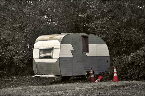 Old Travel Trailer