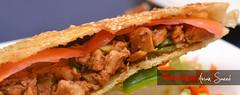 pulled pork, hamburger, produce, food, dish, cuisine, fast food,