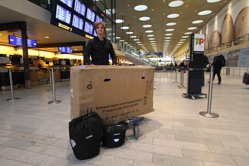 Leaving Copenhagen Airport, Denmark.