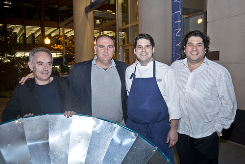 Ferran Adria, Jose Andres, Zaytinya Head Chef Michael Costa, and Gaston Acurio. Photo credit  Freddie Lieberman.