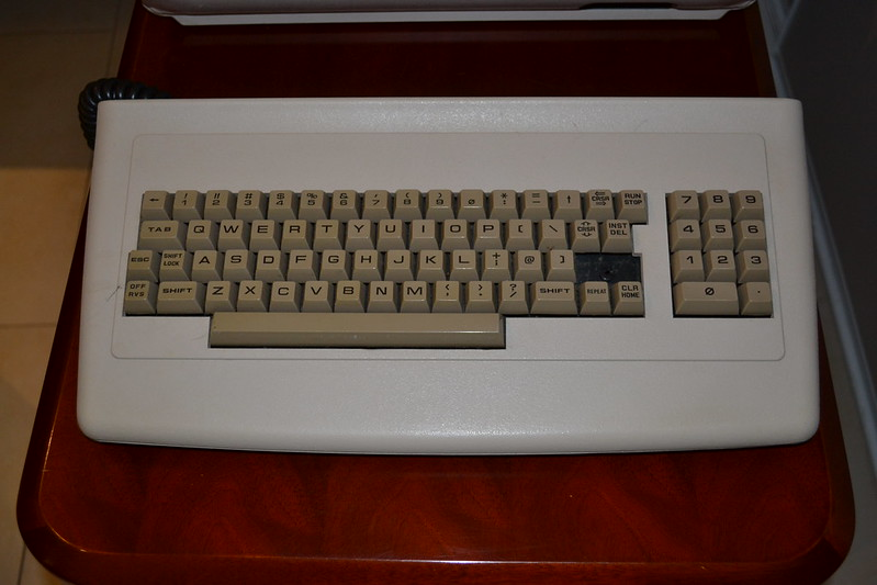 CBM 8296 detachable keyboard.